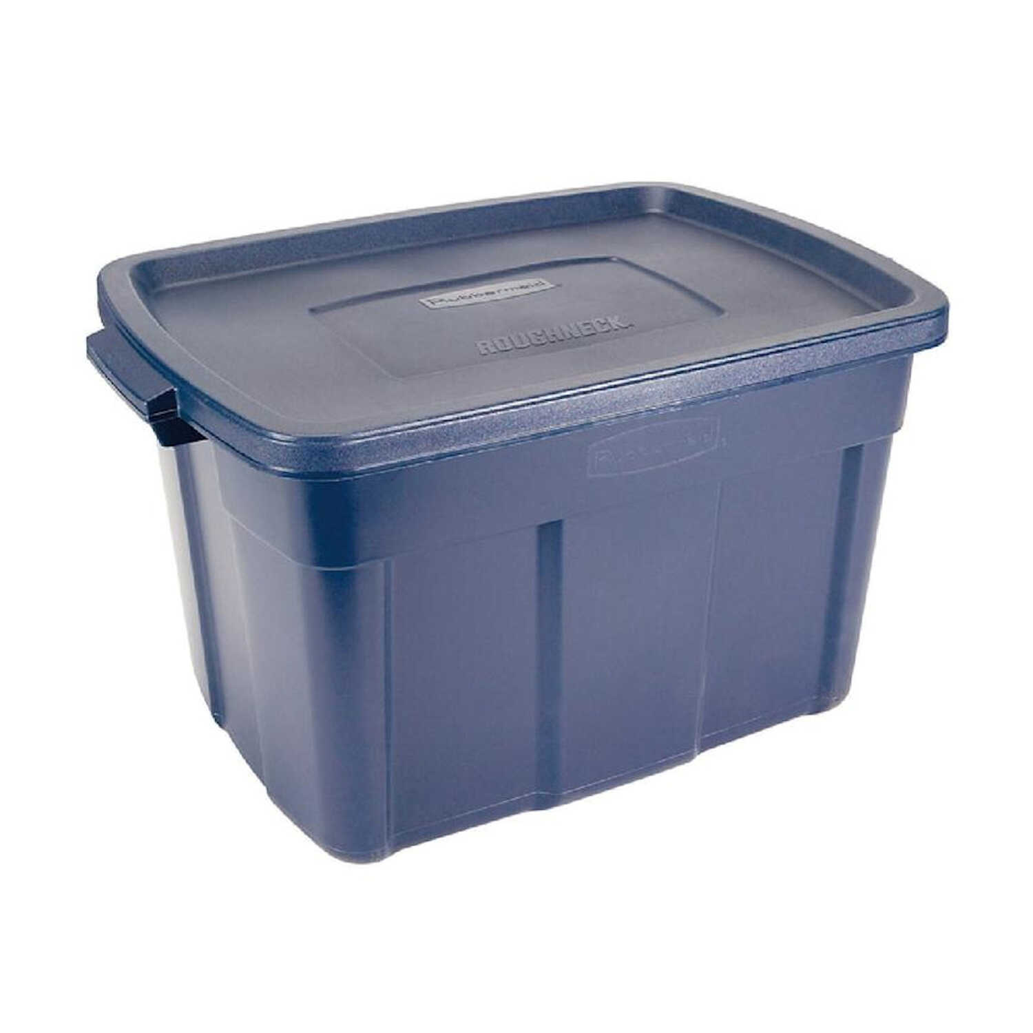 Rubbermaid  Roughneck  23-5/16 in. H x 18-1/2 in. W x 28.875 in. D Stackable Storage Box