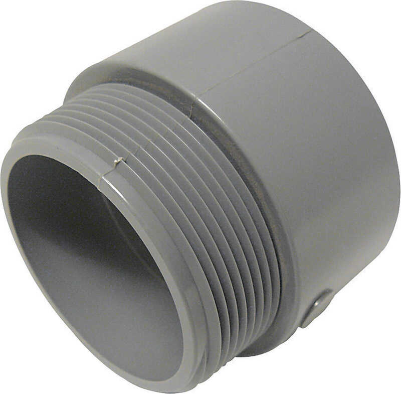 Cantex  2 in. Dia. PVC  Male Adapter  1 pk