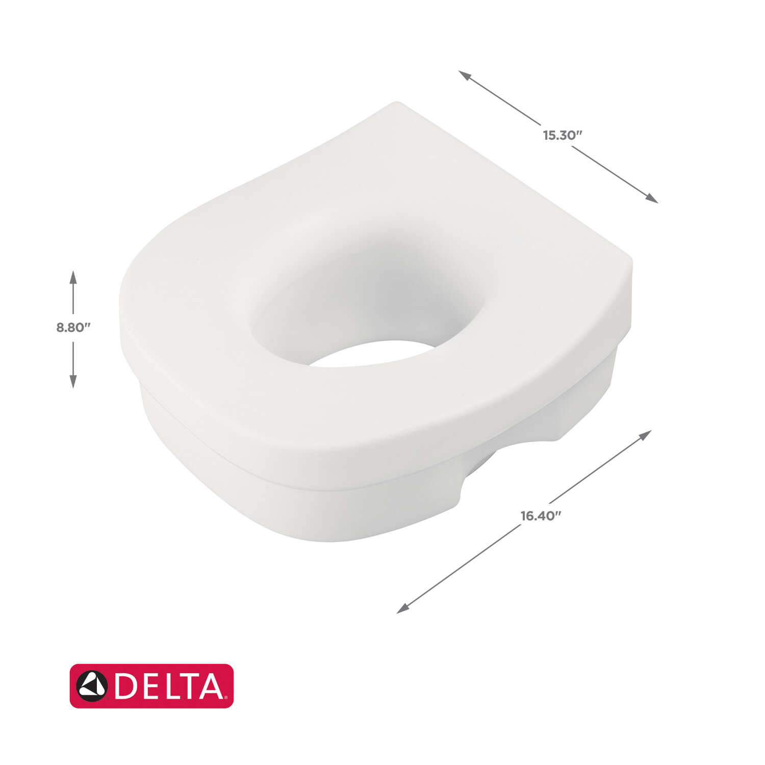 Franklin Brass  White  Elevated Toilet Seat  Plastic  5 in. H x 11-3/4 in. L