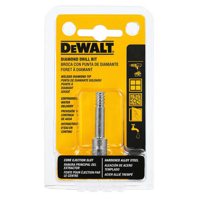 DeWalt  3/16 in.  x 2-1/4 in. L Diamond Tipped  Tile Drill Bit  1 pc.