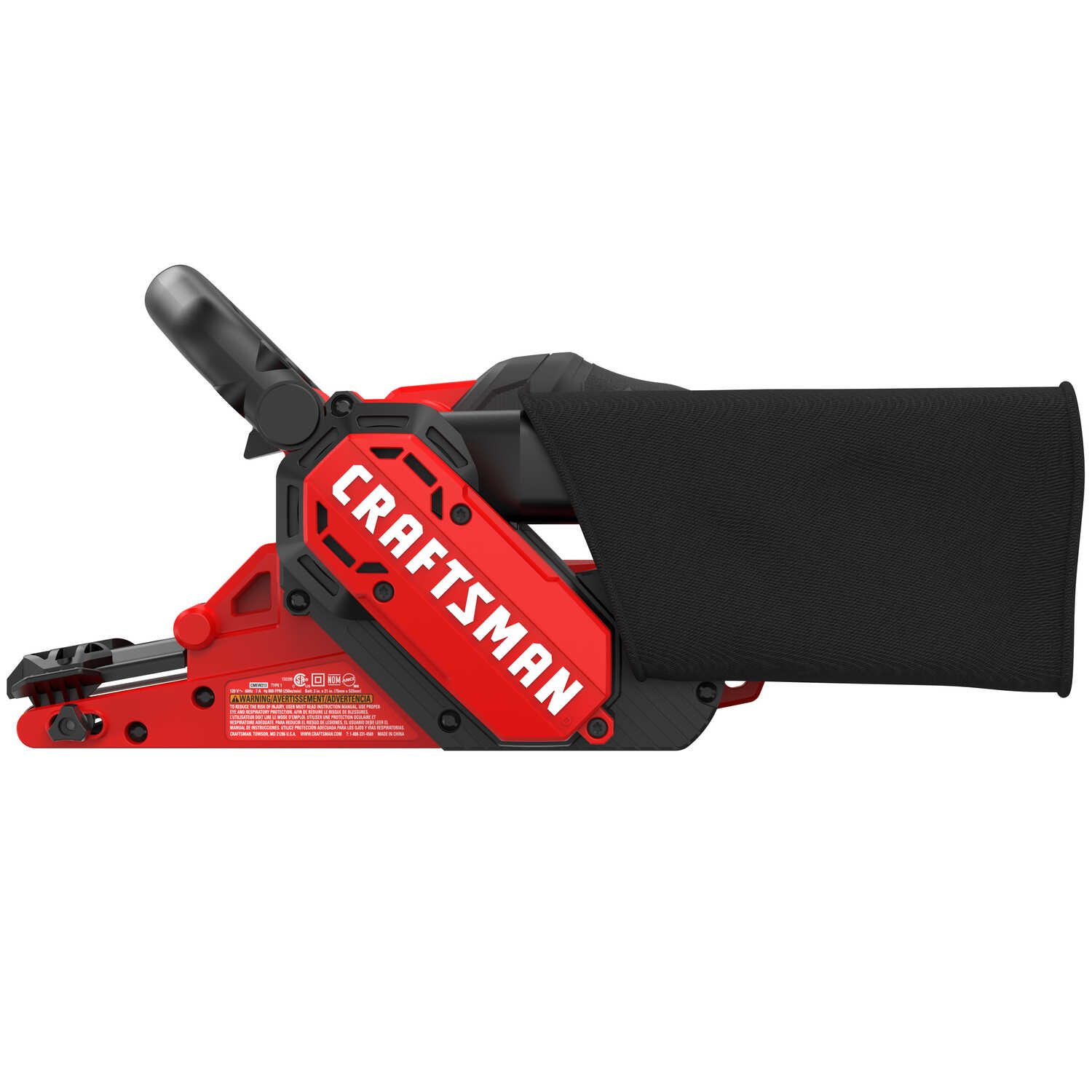 Craftsman  21 in. L x 3 in. W Corded  Belt Sander  7 amps 800 FPM Variable Speed