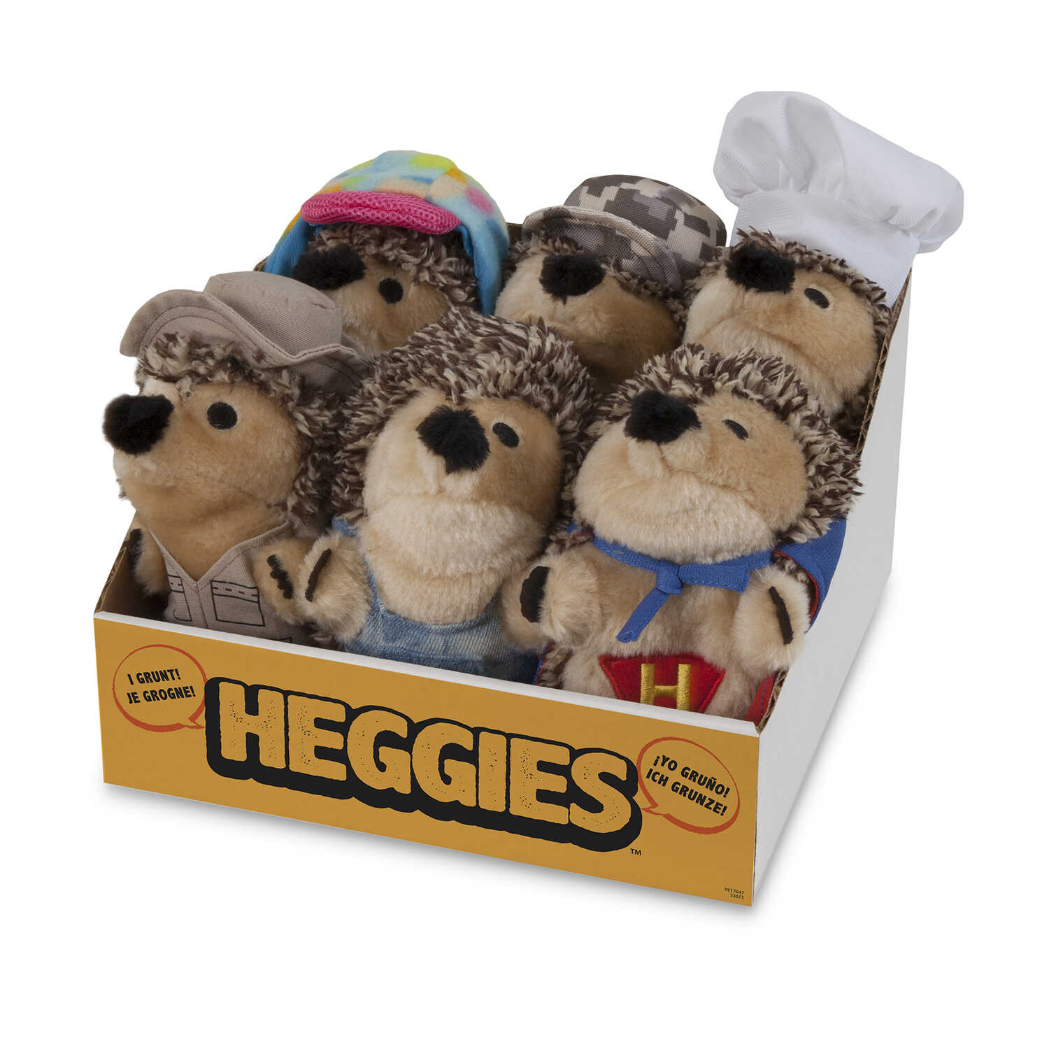 Heggie  Assorted  Squeaky Dog Toy  Fabric