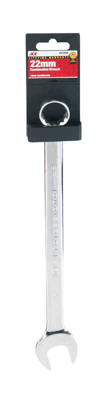 Ace  Pro Series  22   x 22   Metric  Combination Wrench  1 pc.