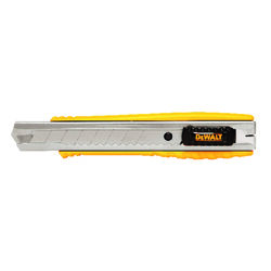 DeWalt 6-1/4 in. Sliding Snap-Off Utility Knife Black/Yellow 1 pk