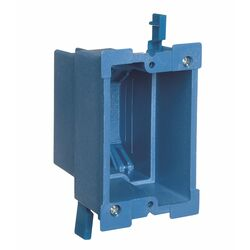 Carlon Super Blue 7-5/8 in. Rectangle Thermoplastic 1 gang Outlet Box Blue