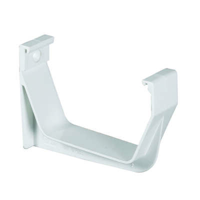 Amerimax  3.25 in. H x 1.125 in. W x 5 in. L White  Vinyl  Contemporary  Exterior Hook Bracket