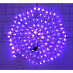 Celebrations  Spider Web  Lighted Purple  Halloween Decoration  62 in. H x 62 in. W 1 pk