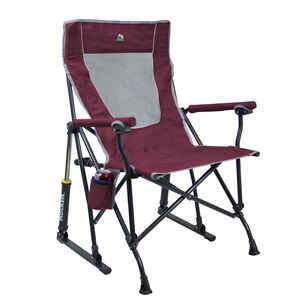 GCI Outdoor  Maroon  Roadtrip Rocker  Folding Chair