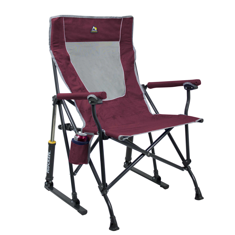 Gci Outdoor Maroon Roadtrip Rocker Folding Chair Ace