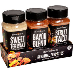 Blackstone Sweet Teriyaki, Bayou Blend and Street Taco Seasoning 3 pk