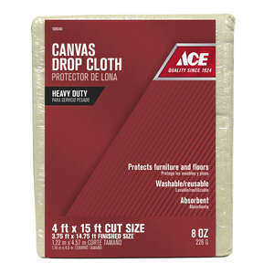 Ace  Heavy Weight  Canvas  4 ft. W x 15 ft. L Drop Cloth