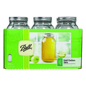 Ball  Wide Mouth  Canning Jar  1/2 gal. 6 pk