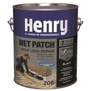 Henry  Smooth  Black  Wet patch  Plastic Roof Cement  0.9 gal.