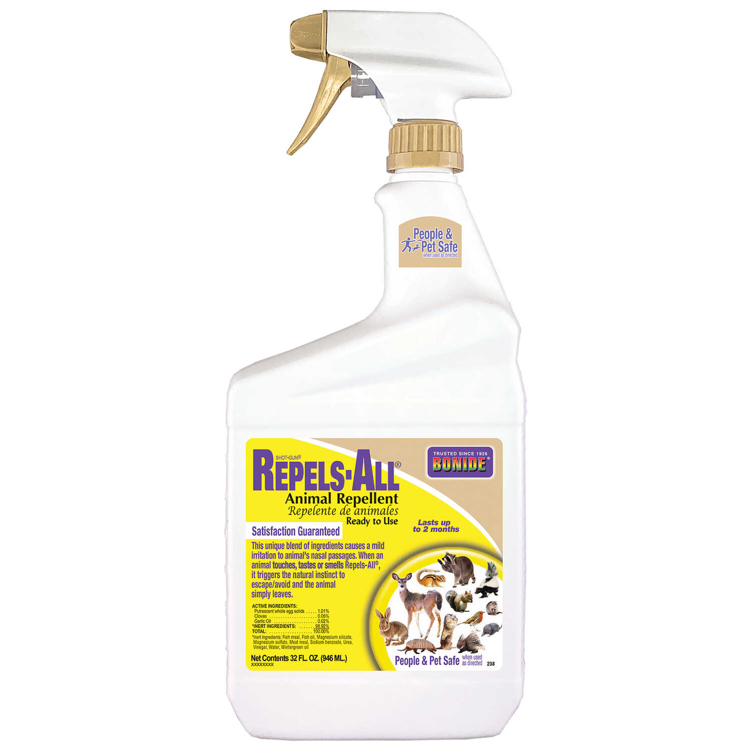 Bonide  Repels-All  For Multiple Animal Types Animal Repellent  32 oz.