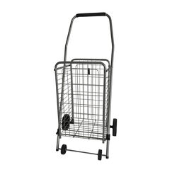 Apex 37.6 in. H x 14.8 in. W x 18.5 in. L Gray Collapsible Shopping Cart