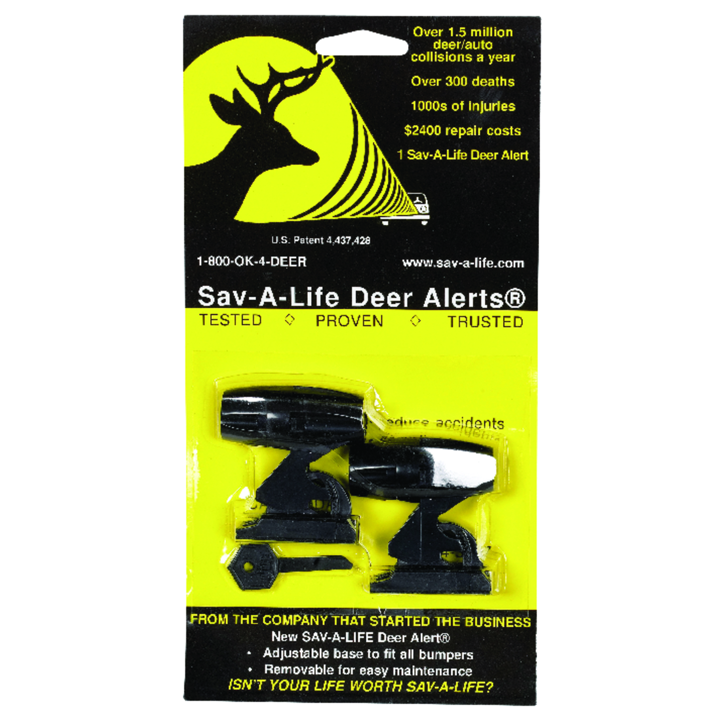 Sav-A-Life  Deer Alert  Black  Deer Warning Device  2 pk