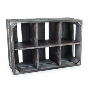 TWINE  Marketplace  5-1/2 in. H x 13 in. W x 8-3/4 in. L Brown  Empty  Display Crate  Wood