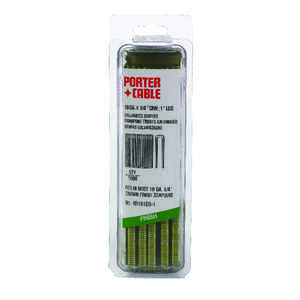Porter Cable  1 in. L x 1/4 in. W Galvanized Steel  Narrow Crown  Staples  1000 EA 18 Ga.