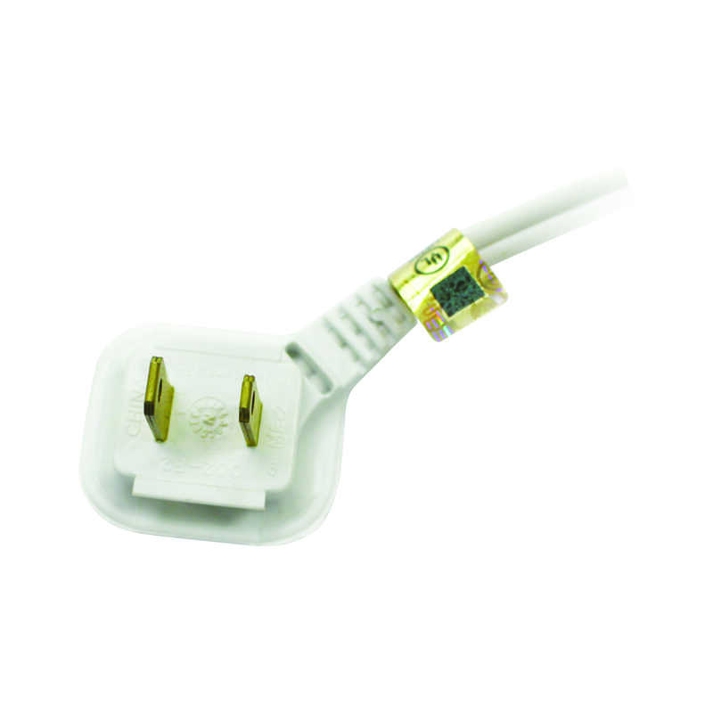 Ace  Indoor  12 ft. L White  Extension Cord