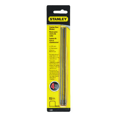 Stanley  6-1/2 in. Steel  Coping Saw Blade  15 TPI 4 pk