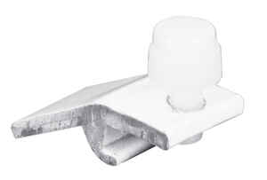 Prime-Line  White  Plastic  Storm Door Panel Clip  For 1/2 inch 8 pk