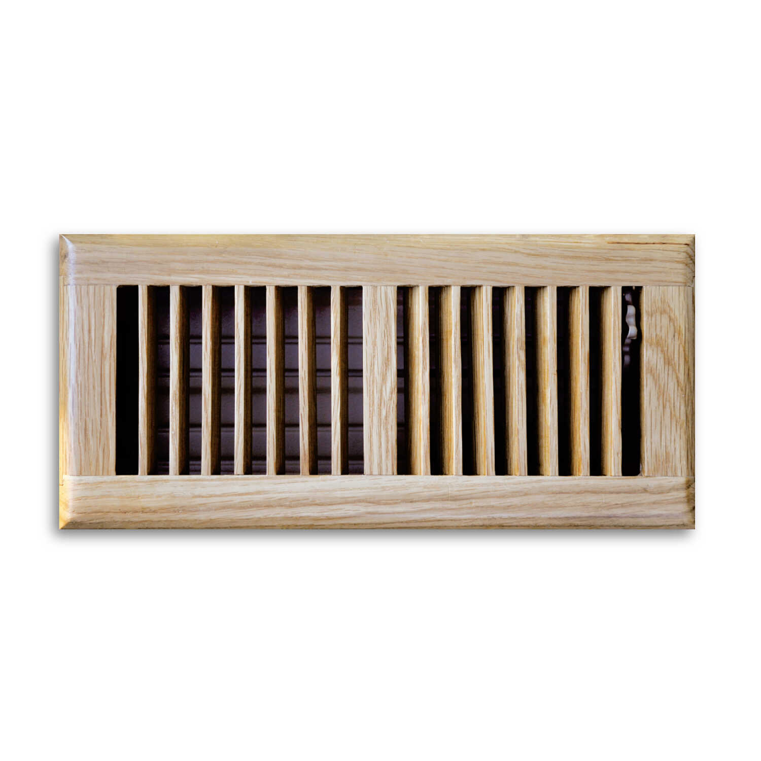 Tru Aire  4 in. H x 3-1/16 in. D 2-Way  Oak  Steel  Floor Diffuser