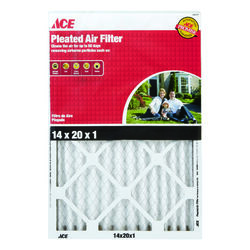Ace  14 in. W x 20 in. H x 1 in. D Pleated  Pleated Air Filter