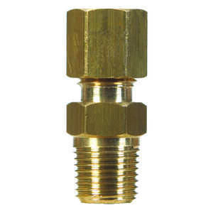 JMF  3/8 in. Dia. x 1/4 in. Dia. Brass  Compression Connector