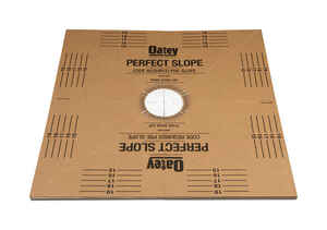 Oatey  Perfect Slope  6 in. H x 40 in. W x 40 in. L Brown  One Piece  Center  Square  Base