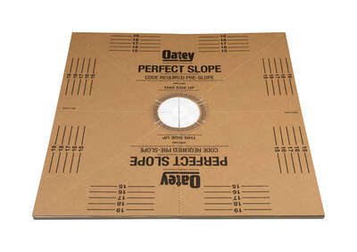 Oatey  Perfect Slope  Brown  Base