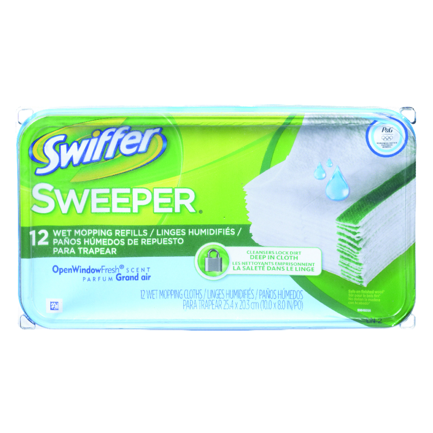 Swiffer  Sweeper  8 in. L Cloth  Mop Refill  12 pk