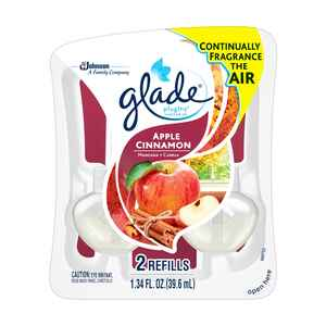 Glade  Plug-Ins  Apple Cinnamon Scent Air Freshener Refill  1.34 oz. Liquid