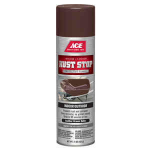 Ace  Rust Stop  Satin  Leather Brown  Spray Paint  15 oz.
