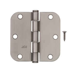 Ace  3-1/2 in. L Satin Nickel  Residential Door Hinge  1 pk