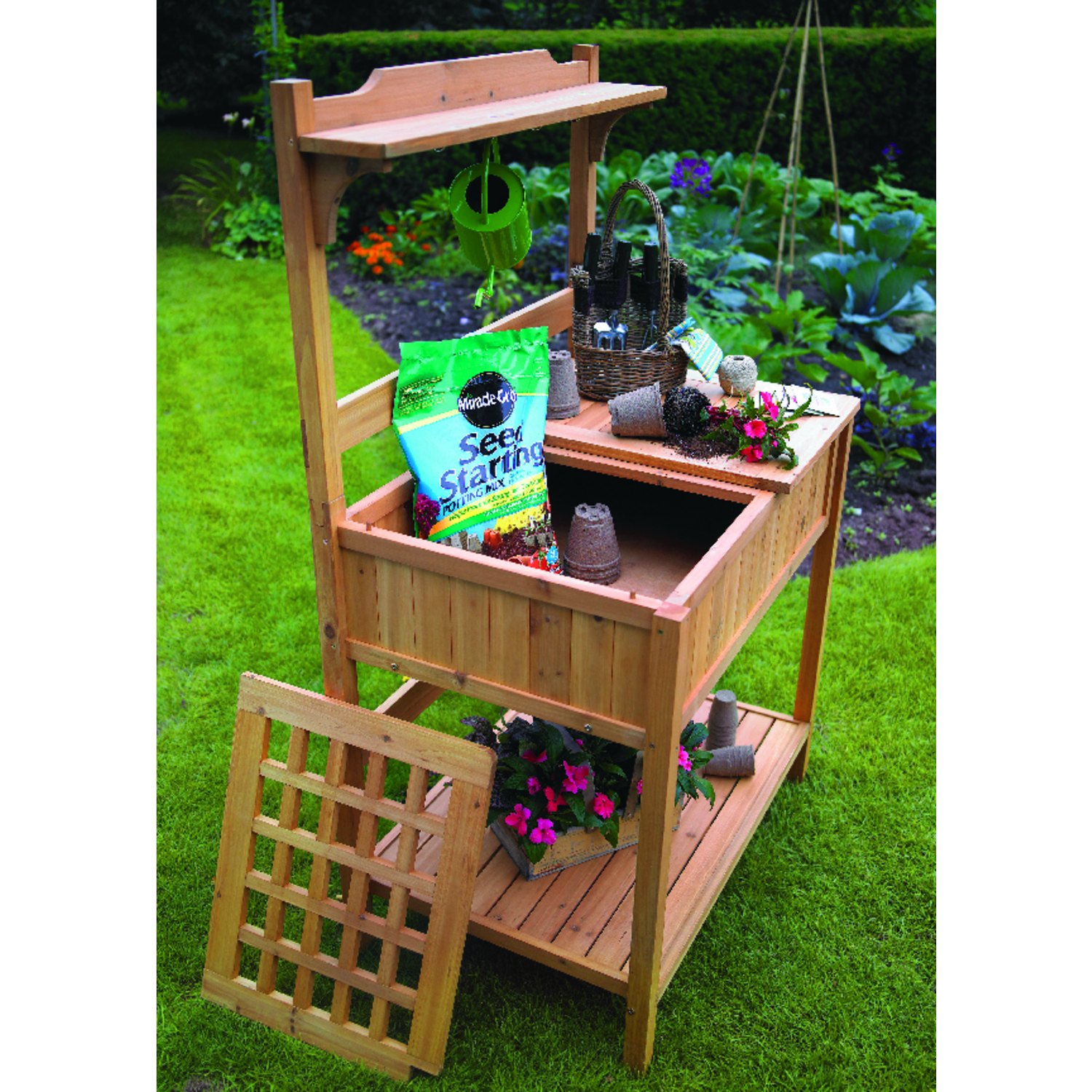 Astonica Bamboo Potting Bench Wood 59.8 In. H X 23.6 In. D X 35.8