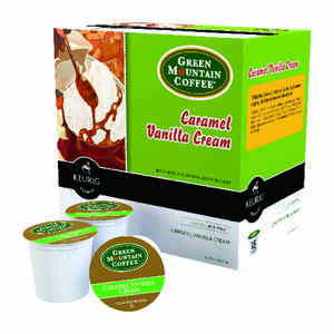Keurig  Green Mountain Coffee  Caramel Vanilla Cream  Coffee K-Cups  18 pk