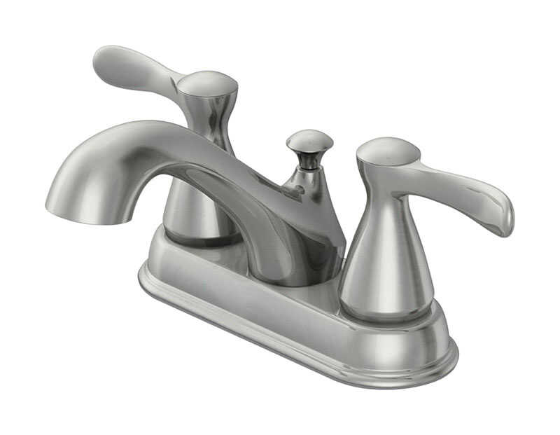 OakBrook  Doria  Doria  Two Handle  Lavatory Pop-Up Faucet  4 in. Brushed Nickel