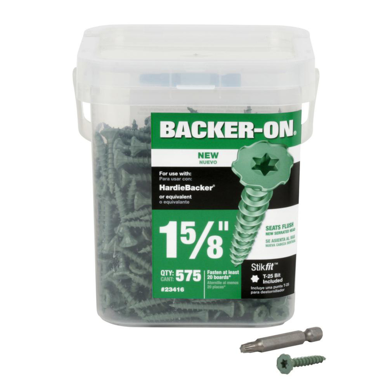 ITW  Backer-On  No. 10   x 1-5/8 in. L Phillips  Flat  Steel  Construction Screws  600 per box 1 pk