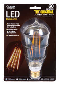 FEIT Electric  Vintage Style  4.2 watts ST19  LED Bulb  466 lumens Soft White  Decorative  60 Watt E