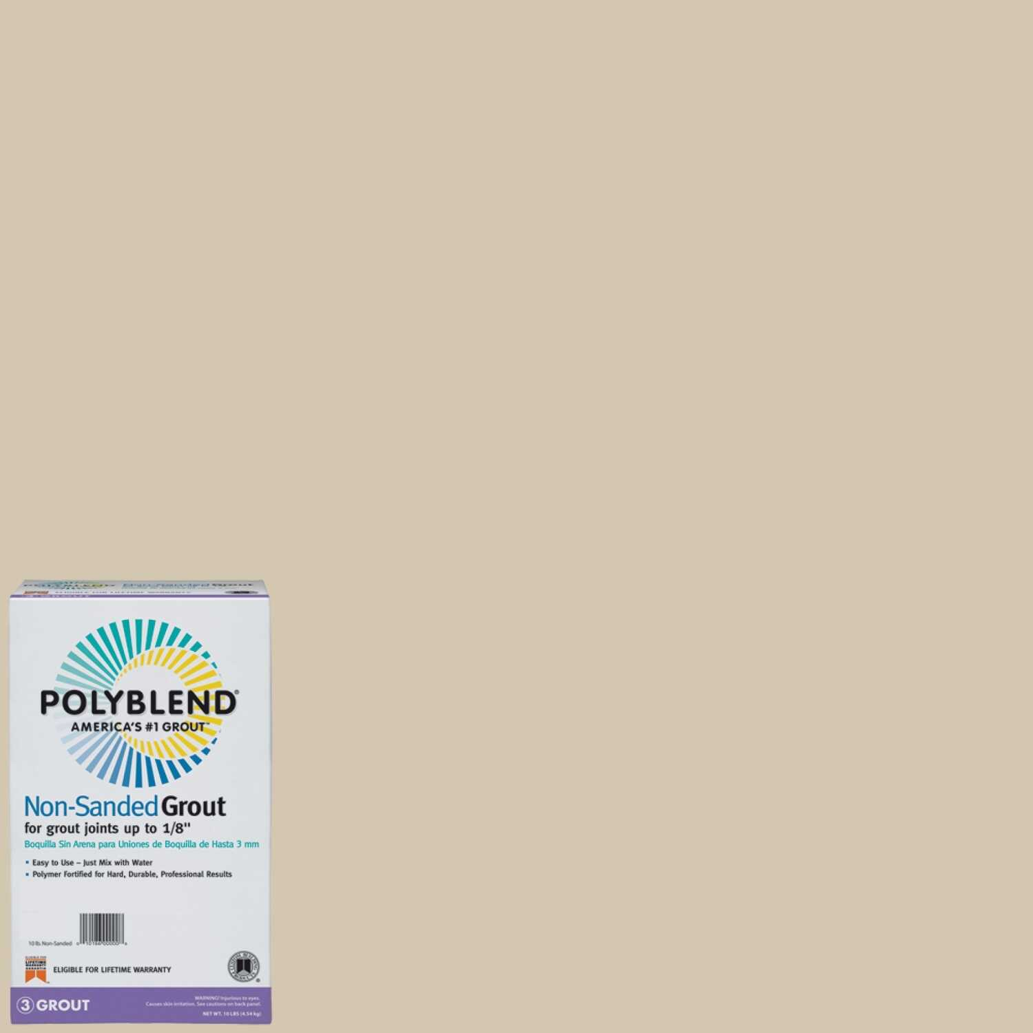 Custom Building Products  Polyblend  Indoor and Outdoor  Antique White  Grout  10 lb.