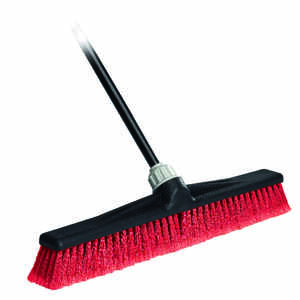 O-Cedar  Maxi Lok  Rough Surface Push Broom  24 in. W x 60 in. L Plastic