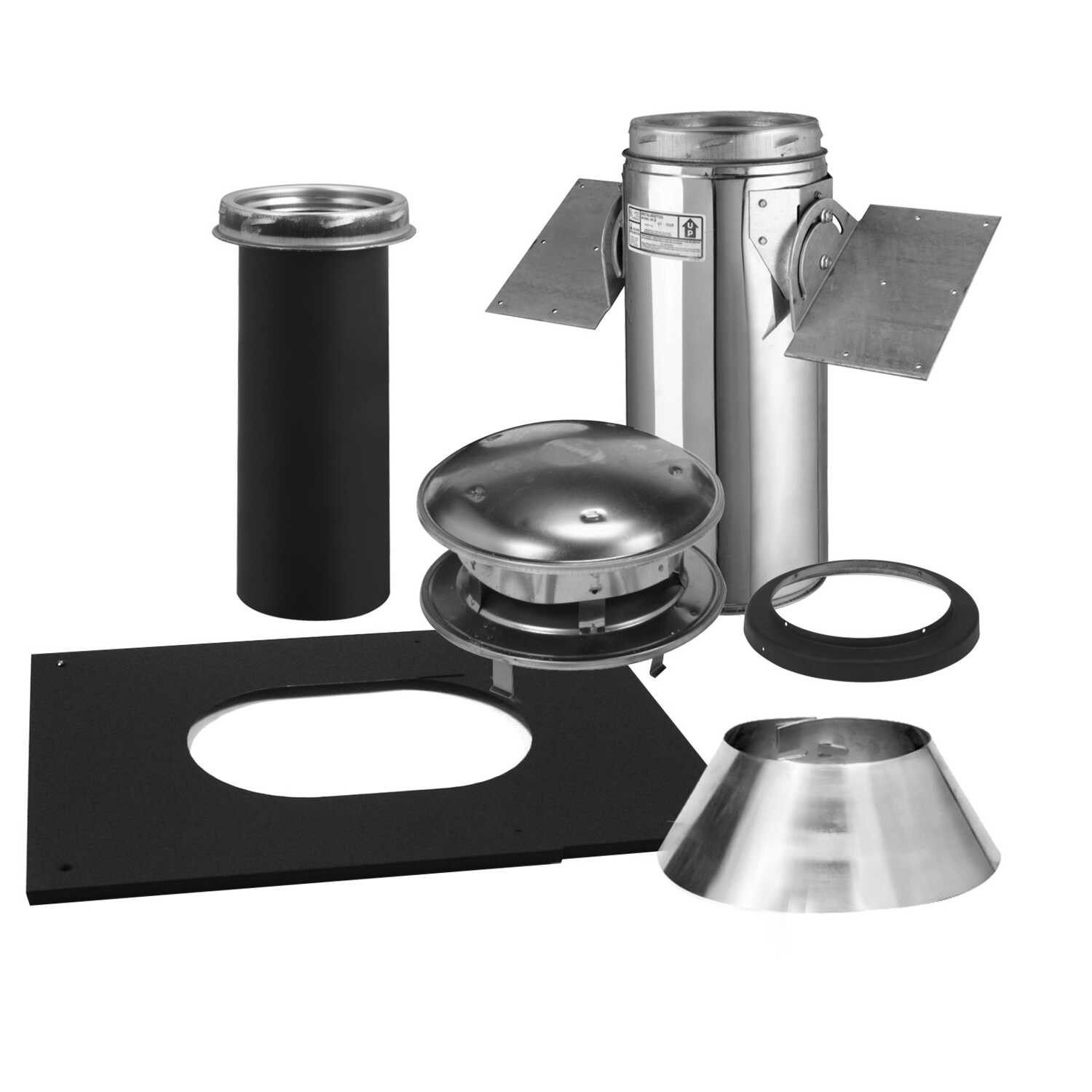 Selkirk  8 in. Stainless Steel  Stove Pipe Ceiling Support Kit