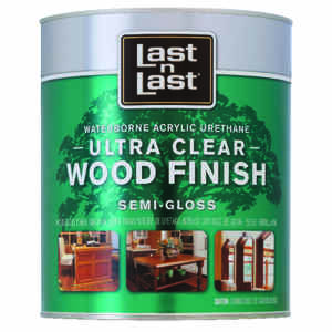 Last N Last  Waterbourne Wood Finish  Semi-Gloss  Clear  Polycrylic  1 qt.