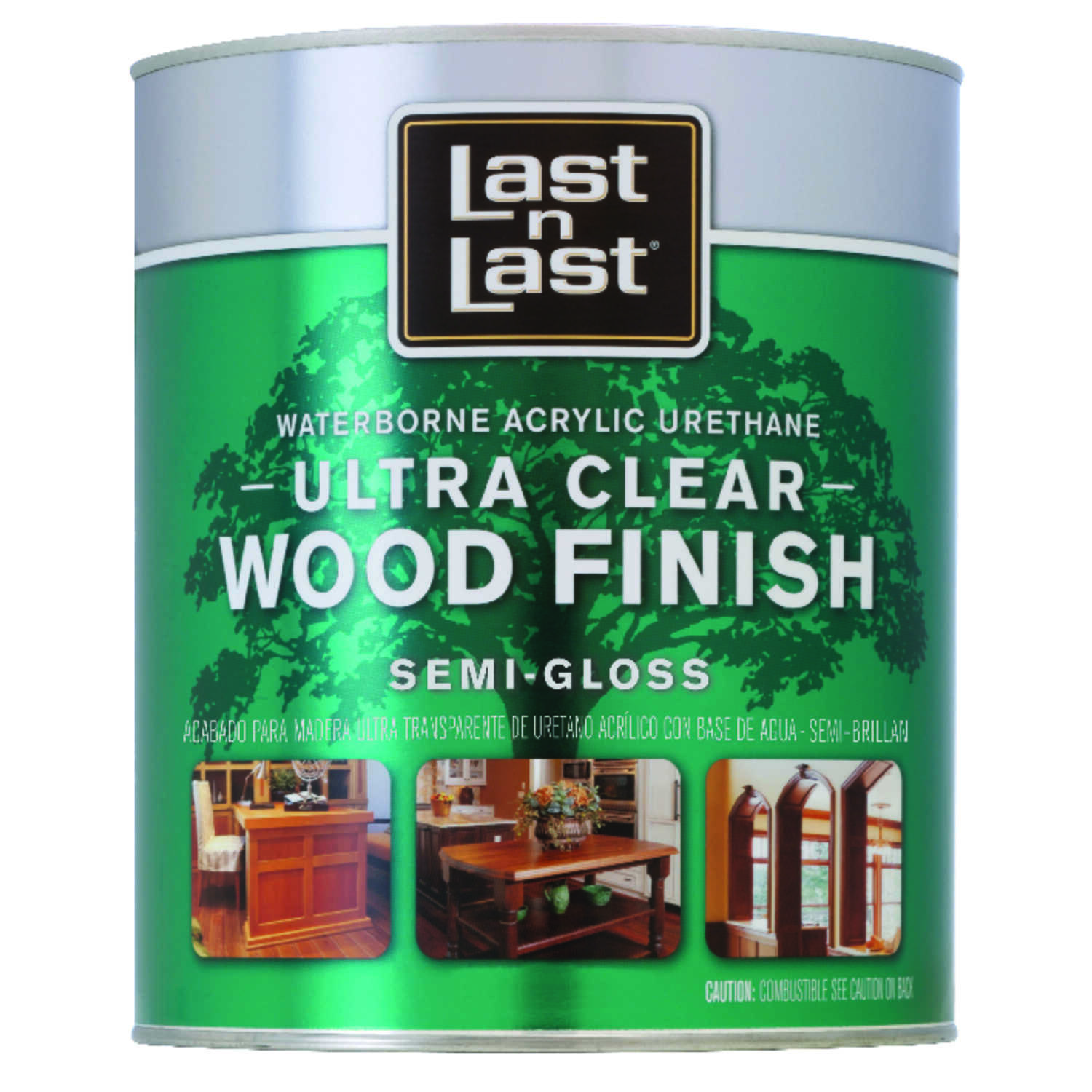 Last N Last  Waterborne Wood Finish  Clear  Semi-Gloss  Polycrylic  1 gal.
