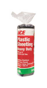 ACE  Plastic Sheeting  4 mil  x 20 ft. W x 25 ft. L Polyethylene  Black