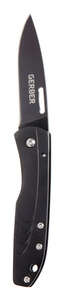 Gerber  STL 2.5  Black  Stainless Steel  6 in. Knife