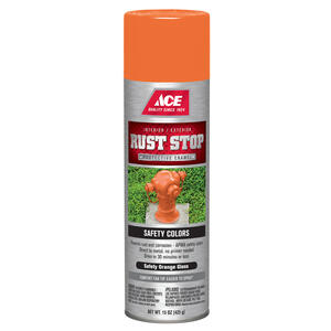 Ace  Rust Stop  Gloss  Safety Orange  Spray Paint  15 oz.