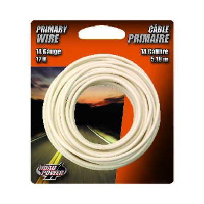 Coleman Cable  17 ft. 14 Ga. Primary Wire  White