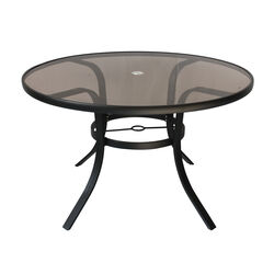 Living Accents  Barrington  Round  Brown  Glass  Table