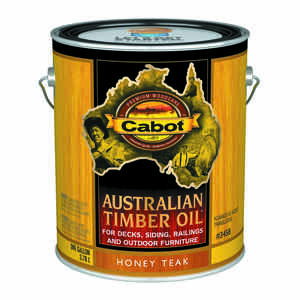 Cabot  Transparent  Honey Teak  Oil-Based  Natural Oil/Waterborne Hybrid  Australian Timber Oil  1 g